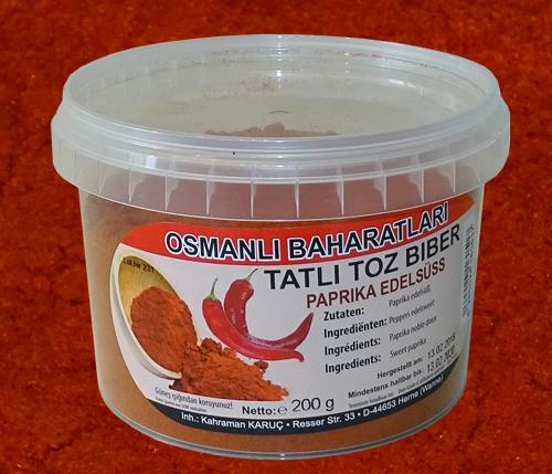 Osmanlı Baharatları > Toz Biber Tatlı